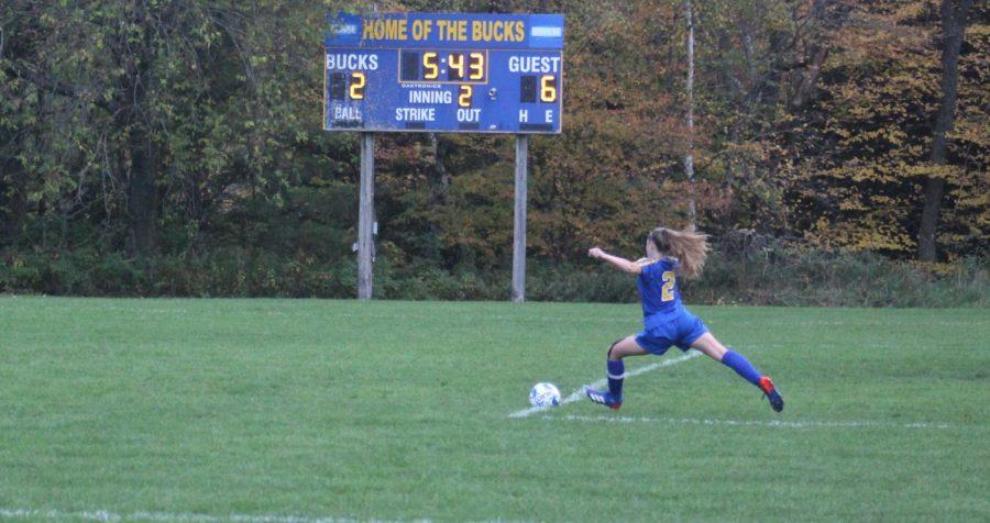 Bucks Fall to the Olympians 6-2 in Girls Varsity Soccer