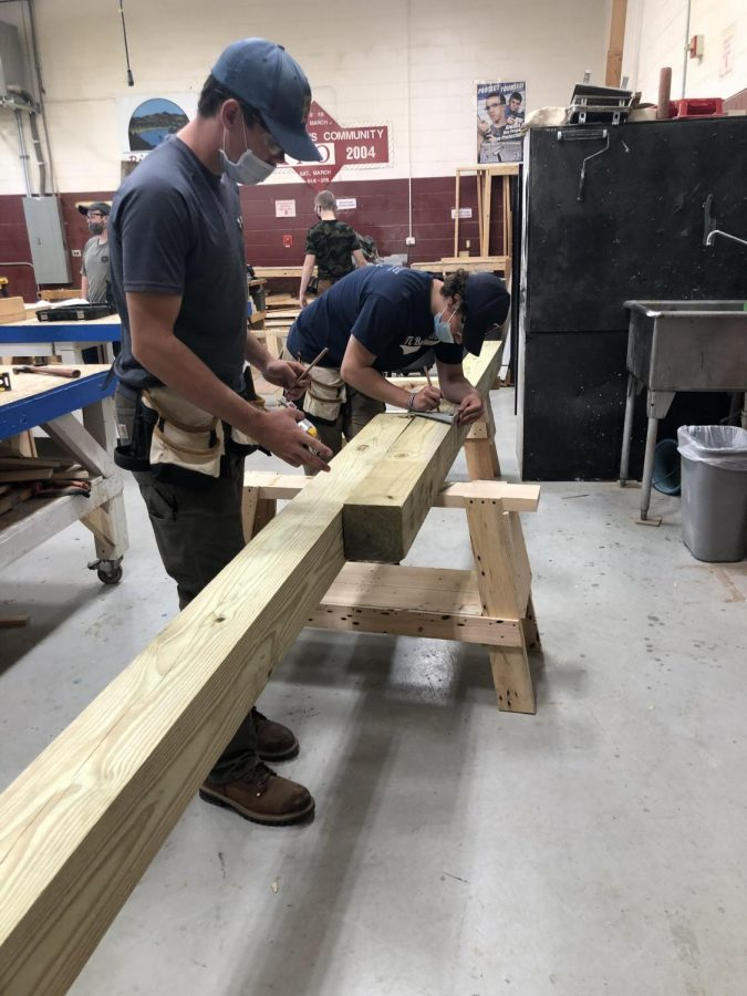 River Bend Students Construct Dugouts for Youth Sports Program